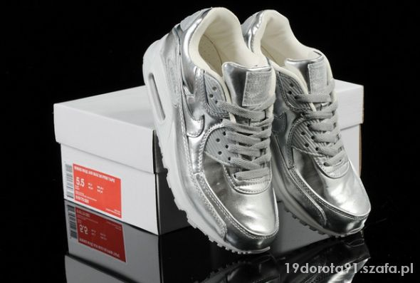 PROMOCJA Nike Air Max 90 z złote srebrne w Sportowe Szafa.pl