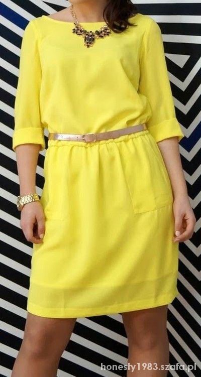 Mohito sukienka żółta