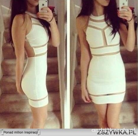 Imprezowe Biała sukienka