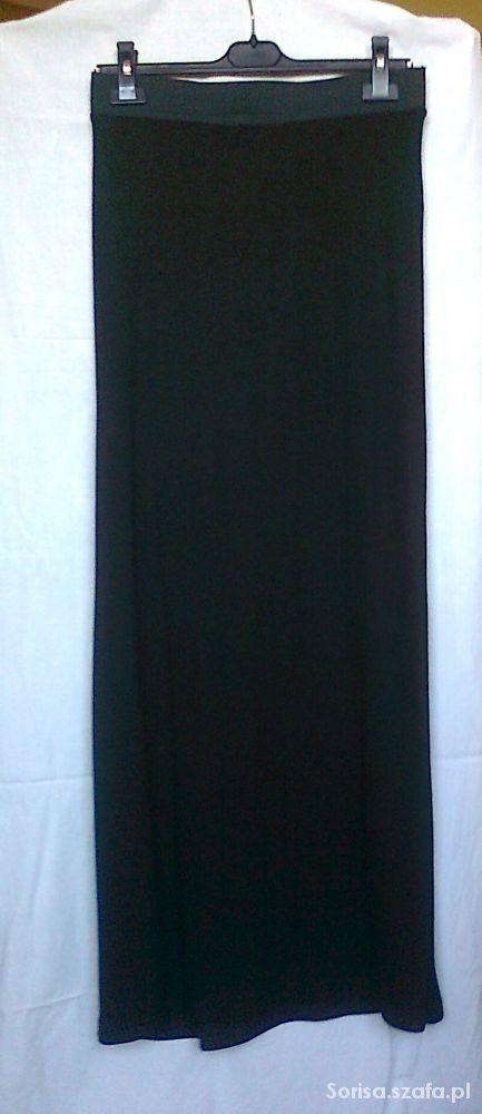 Spódnice Czarna spódnica maxi z dzianiny