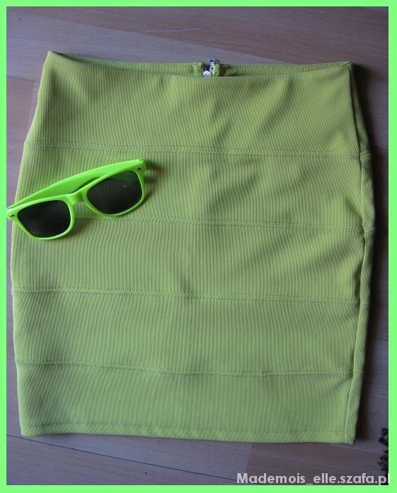 Spódnice Neonowo limonkowa S topshop