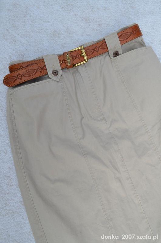 Spódnice Spódnica midi z paskiem 38x40
