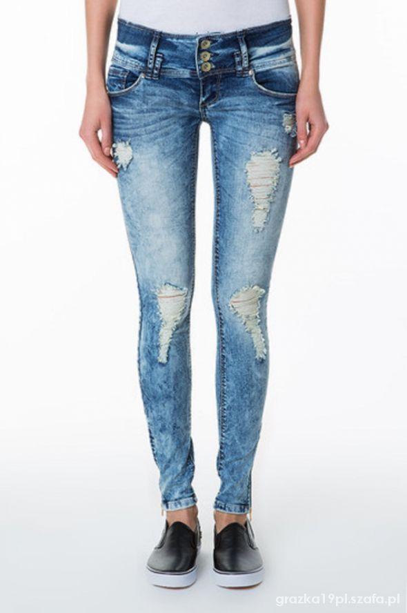 jeansowe rurki tally weijl