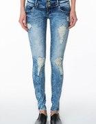 jeansowe rurki tally weijl...