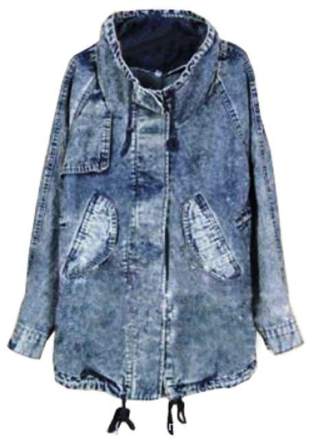 Parka kurtka jeansowa denim 36