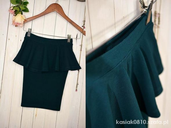 Spódnice bershka szmaragdowa baskinka