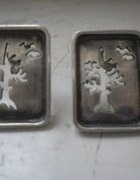 Srebrne kolczyki motyw drzewka5 gr