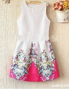 WYSYLKA GRATIS sukienka żakardowa kwiaty 36 s