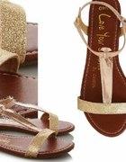 Sandałki sandały złote george...