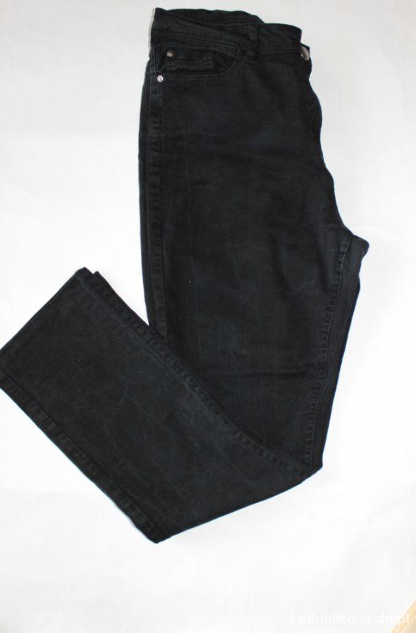 Spodnie jeansowe czarne pas 100 cm