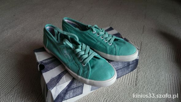 Pepe Jeans zielone krótkie trampki