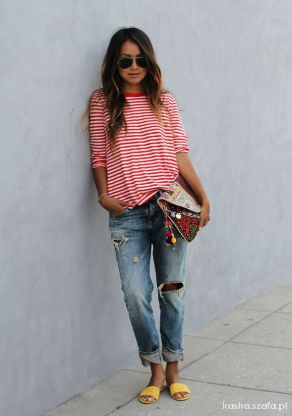 stripes and boyfriend jeans LOVE IT