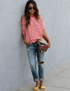 stripes and boyfriend jeans LOVE IT