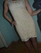 Sukienka koronkowa ćwieki