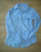 jeansowa koszula gwiazd S