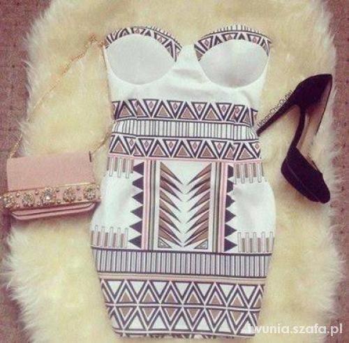 Sukienka aztec