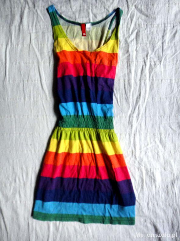 Tuniki Rainbow tęczowa tunika ściągana w talii H&M