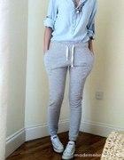 Spodnie dresowe zara bershka S