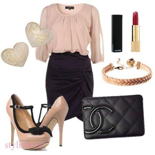 Eleganckie codzienna elegancja szpilki nude z czarną kokardką