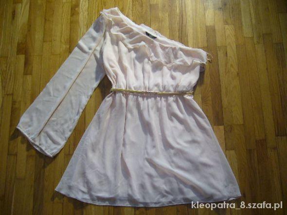 NEW LOOK 44 nude piękna sukienka