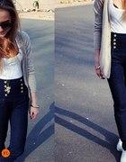 spodnie i spodenki wysoki stan