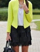Neon Limonka Zara Boucle Chanelka