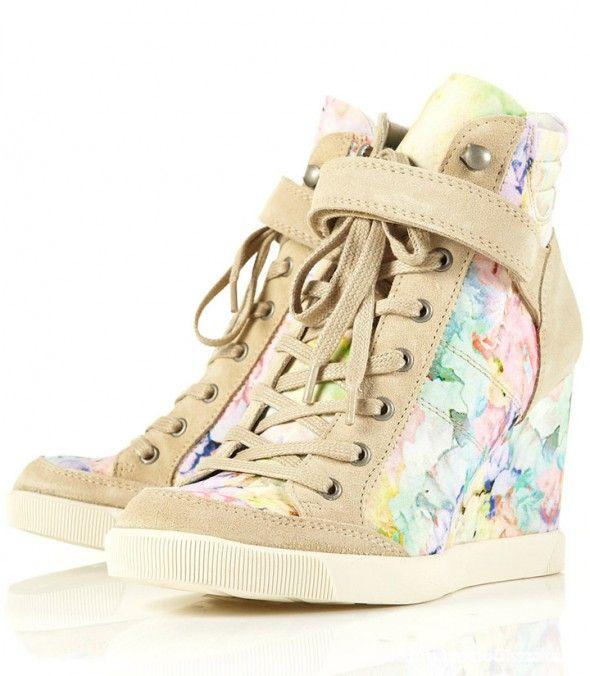 Obuwie topshop floral sneakers