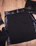 spodnica sinsay skora wstawki zip mega mohito xs