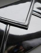 srebrna lustrzana torebka kopertówka...