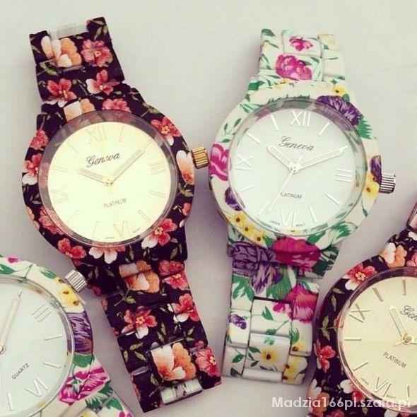 Zegarek w kwiaty
