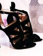 szpilki sandały na obcasie ZARA