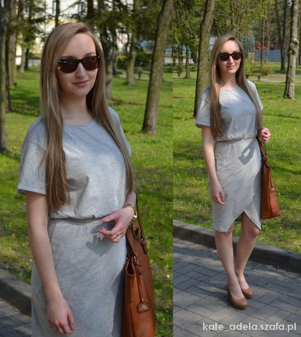 Blogerek grey dress