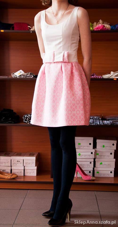 śliczna sukienka beaty rębowskiej z paskiem w Suknie i sukienki ... ebde0d237a3