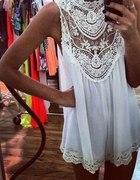 Piękna jedyn akoronkow sukienka ażur