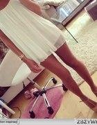 biała zwiewna sukienka 36