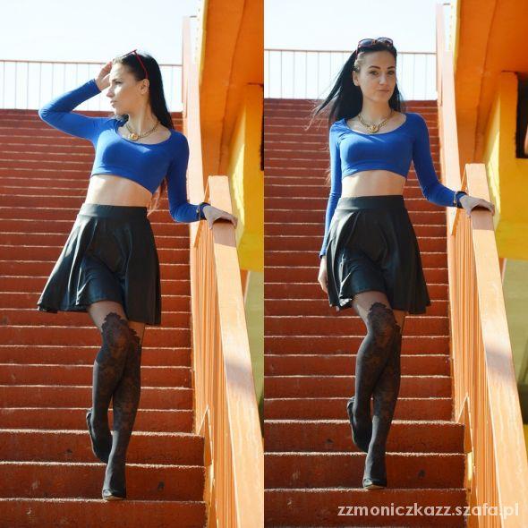 Blogerek Royal blue top