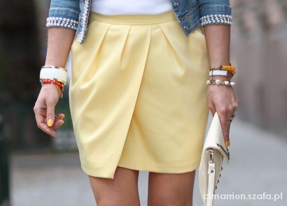 Żółta spódnica Mohito