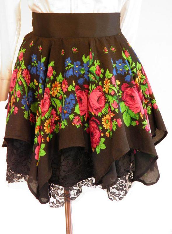 52dd0c2f MY SŁOWIANIE FOLK floral spódnica CLEO ROZMIARY w Spódnice - Szafa.pl