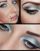 dzisiejszy metaliczny makijaż
