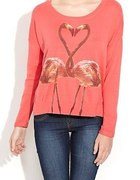 New Look flamingi koralowy sweterek