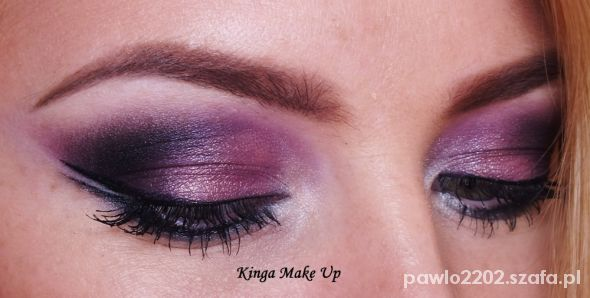 Fryzury make up fiolet