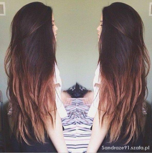 Długie Włosy Ombre W Fryzury Szafapl