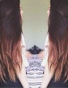 Długie włosy ombre