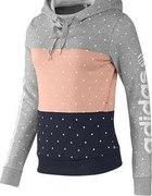 Bluza z kapturem Adidas w groszki Colourblock