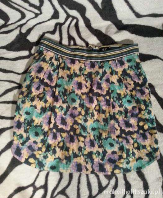 Spódnice spódniczka FLORAL kwiaty H&M urocza dziewczęca