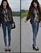 Leopard print shirt...