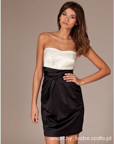 Ubrania VILA sukienka czarny bralet bombka nude