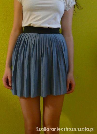 Spódnice Spódniczka plisowana niebieska house