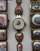Zegarek CZAJKA Z BRANSOLETA Z PORCELANY