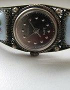 Zegarek ZARJA z porcelanową bransoletką